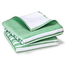 2 Velours-Handtücher