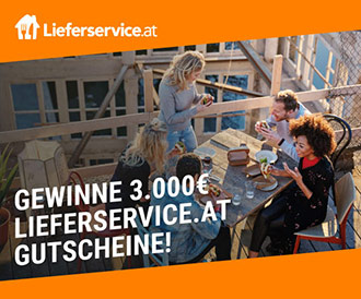 Gewinne bis zu 3.000€ Lieferservice.at Gutscheine