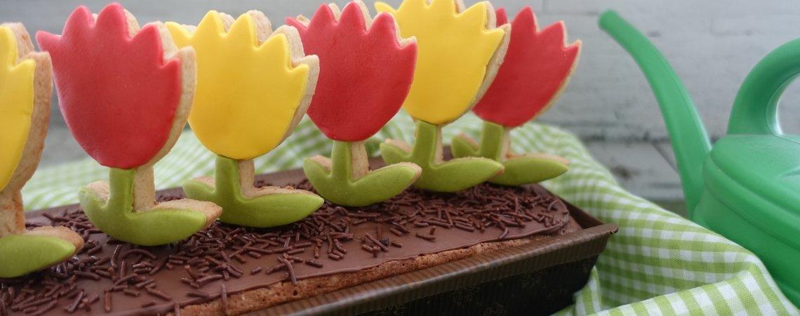 Blumen-Kisterl-Kuchen