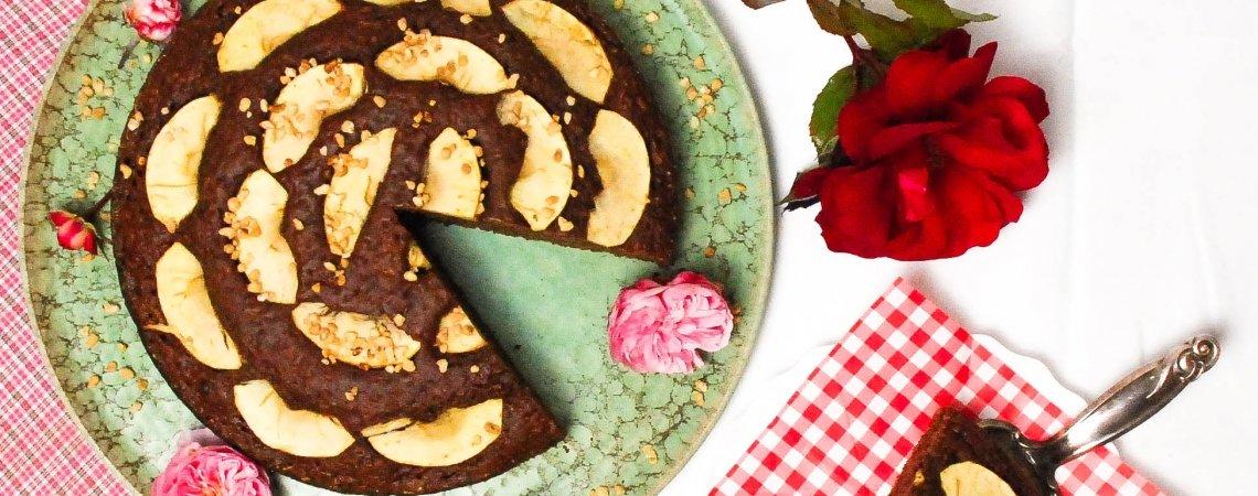 Veganer Schokoladen - Apfelkuchen