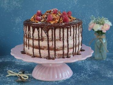 Himbeer Schokoladentorte - eine himmlische Versuchung