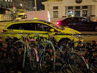 Bei den Temperaturen lieber mit dem Taxi als mit dem Rad