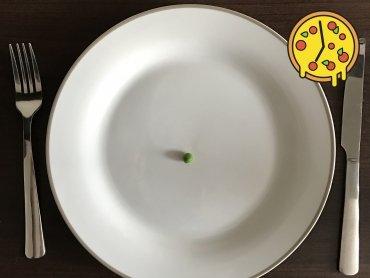 Morgens schon der Teller leer...