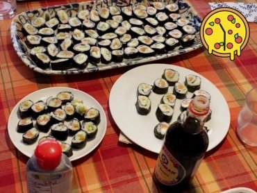 Man kann nie genug Sushi haben