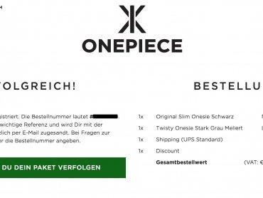 -30% Gutschein im Onepiece Onlineshop