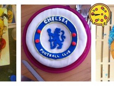 Leckeres Essen im letzten Thailand-Urlaub, Krümelmonster-Muffins für eine Freundin und einen Chelsea-Kuchen für meinen Bruder :D