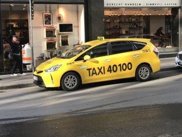 Taxi müde, taxi Pause