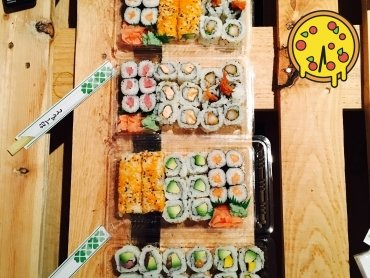 Sushi, sushi! mjam, mjam, mjam!