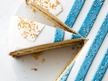 Einfache Vanille Torte mit Vanille und Nougat Puddingcreme