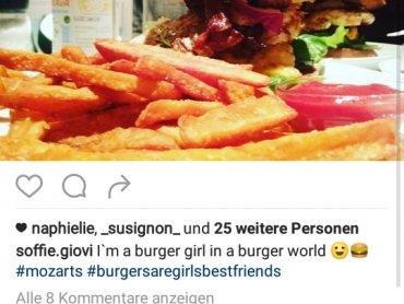 Gutschein für 1+1 gratis Burger bei Mozarts