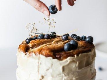 Fruchtiger Zitronen Blueberry Kuchen