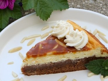 Lebkuchenbrownie mit Cheesecake-Topping