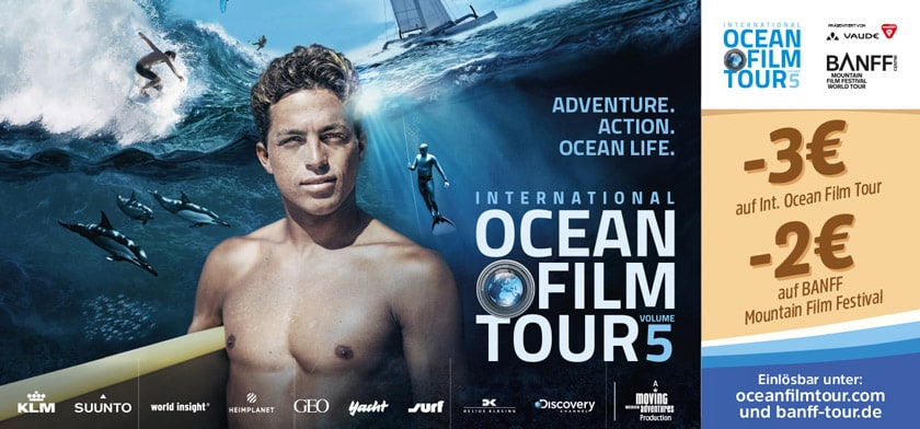 -3€ auf Int. Ocean Film Tour -2€ auf BANFF Mountain Film Festival