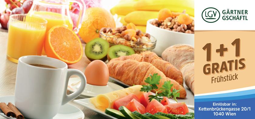 1+1 gratis Frühstück