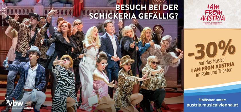 -30% auf das Musical I AM FROM AUSTRIA im Raimund Theater