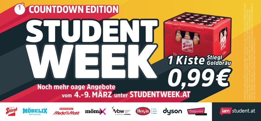 Exklusive Deals bei der Student Week