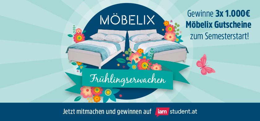 Gewinne 3x 1.000€ Möbelix Gutscheine zum Semesterstart!