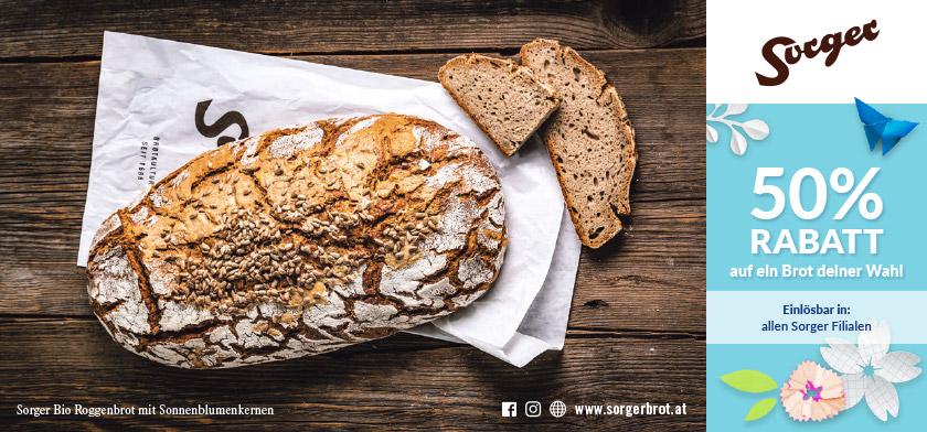 50% RABATT auf ein Brot deiner Wahl