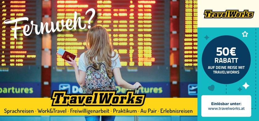 50€ Rabatt auf deine Reise mit TravelWorks