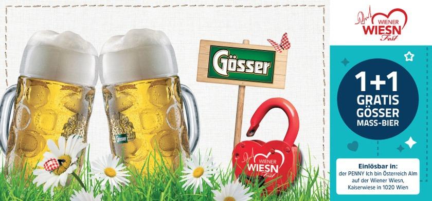 1+1 gratis Gösser Maß-Bier