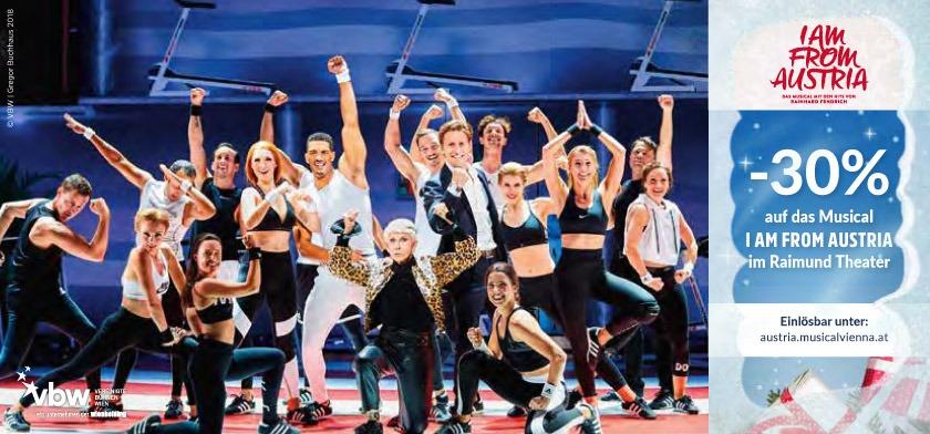 30% auf das Musical I AM FROM AUSTRIA