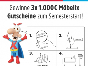 Gewinne 3x1000€ zum Start des Wintersemesters 18/19!