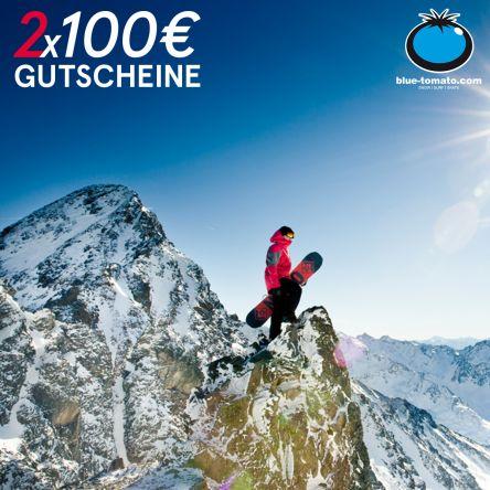2x100€ Blue Tomato Gutscheine