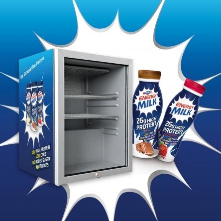 Gewinne 7x1 Kühlschrank voll mit Emmi Energy Milk!