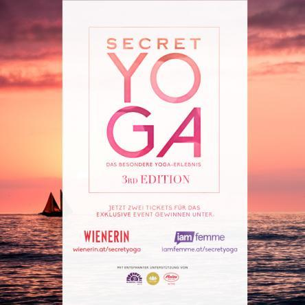10x2 Tickets für Secret Yoga 3rd Edition