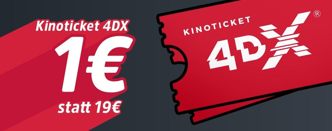 4DX Kino-Erlebnis für nur 1€!