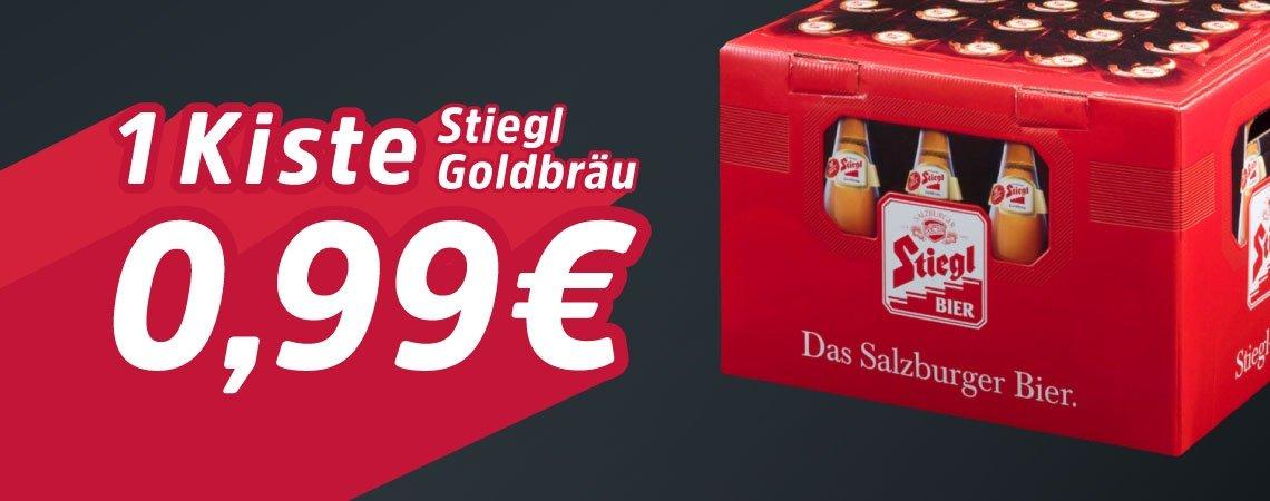 Stiegl Goldbräu Kiste um 0,99€
