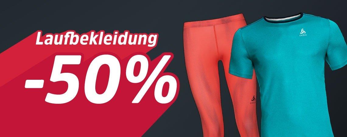 -50% auf Laufbekleidung