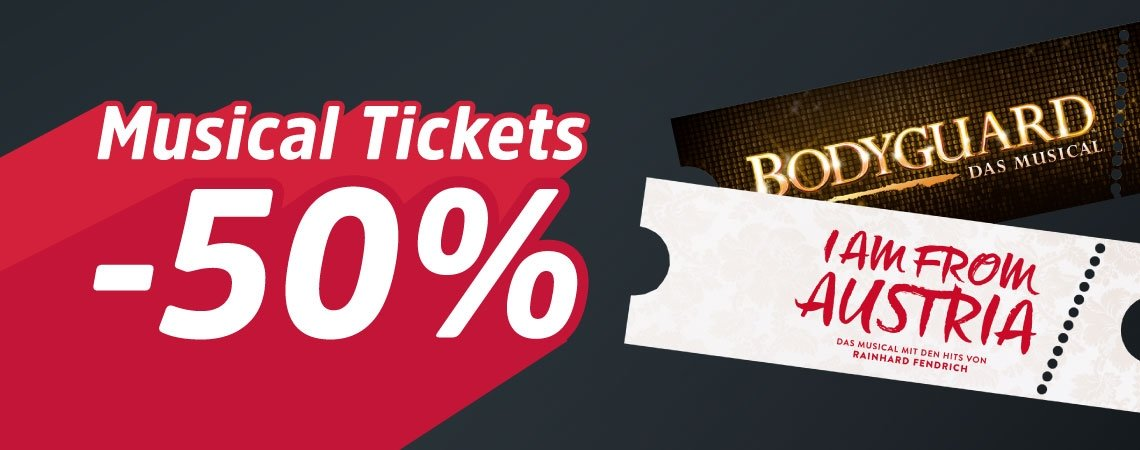 50% Rabatt auf Musical-Tickets