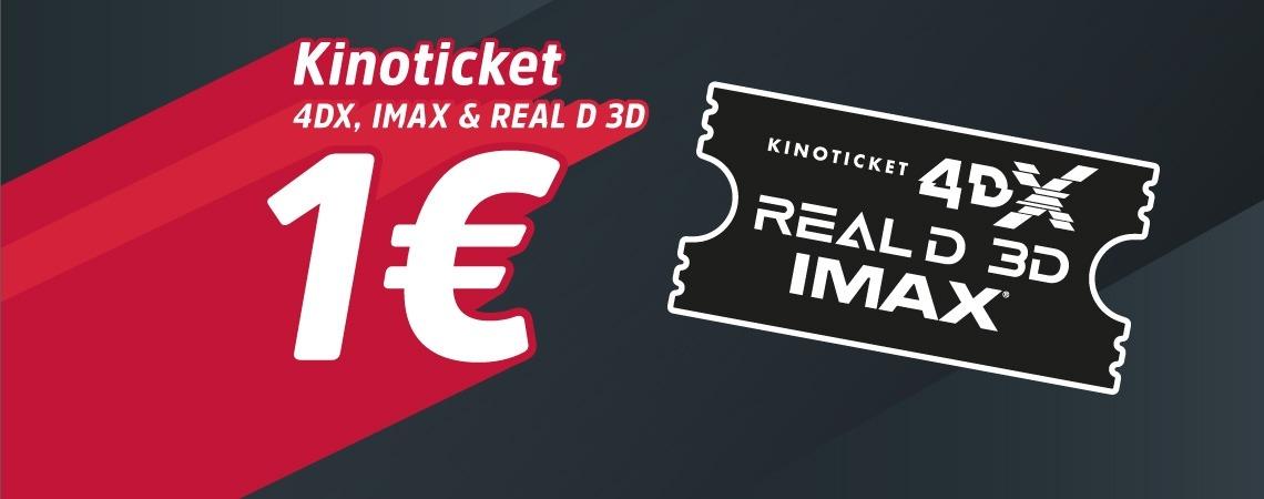Kinotickets um nur 1€!