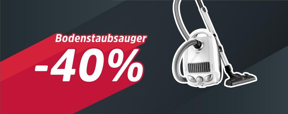 40% Ersparnis auf Staubsauger