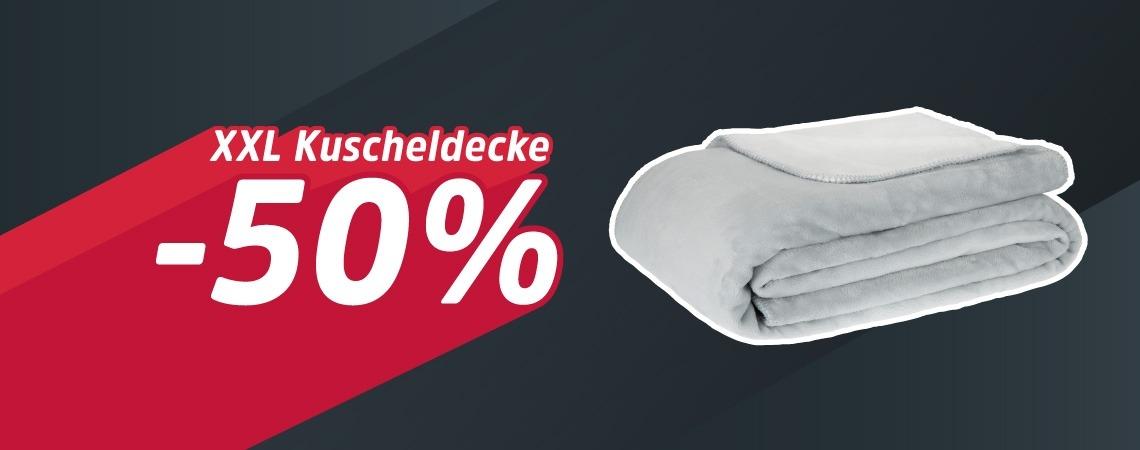 -50% auf XXL Kuscheldecke