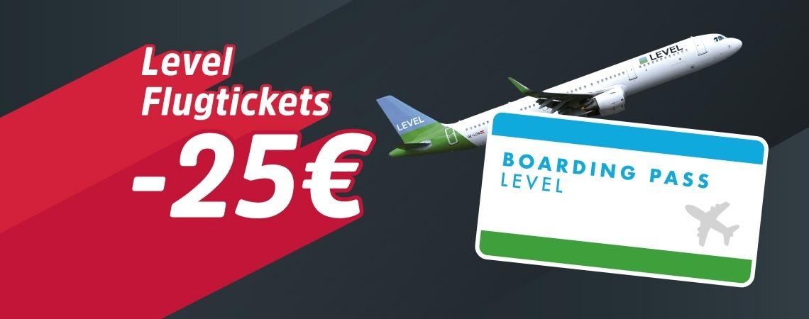 -25€ auf Flugtickets