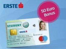 Exlusiver 50€ Bonus bei Online-Eröffnung eines Studentenkontos der Erste Bank