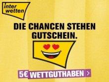 5€ Interwetten Gutschein für Neu- & Bestandskunden