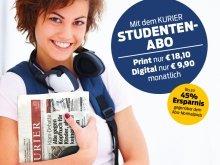 Mit dem Kurier Studentenabo 45% sparen