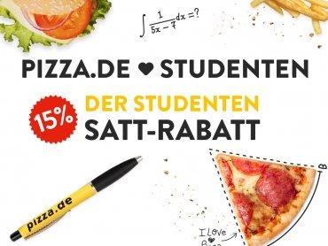 Endlich satt, dank Studentenrabatt bei Pizza.de!